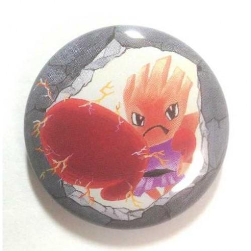 Pokemon Center 2013 15th Anniversary Hitmonchan Metal Button