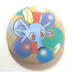 Pokemon Center 2013 15th Anniversary Horsea Metal Button