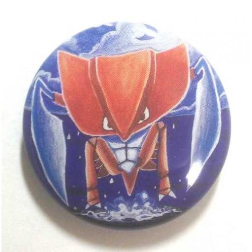 Pokemon Center 2013 15th Anniversary Kabutops Metal Button