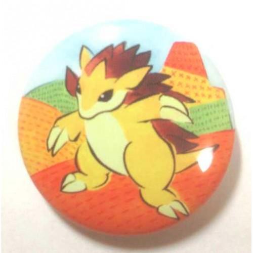 Pokemon Center 2013 15th Anniversary Sandslash Metal Button