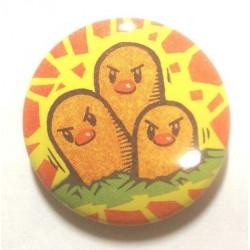 Pokemon Center 2013 15th Anniversary Dugtrio Metal Button