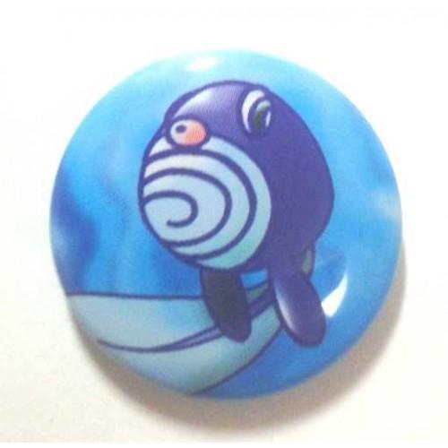 Pokemon Center 2013 15th Anniversary Poliwag Metal Button