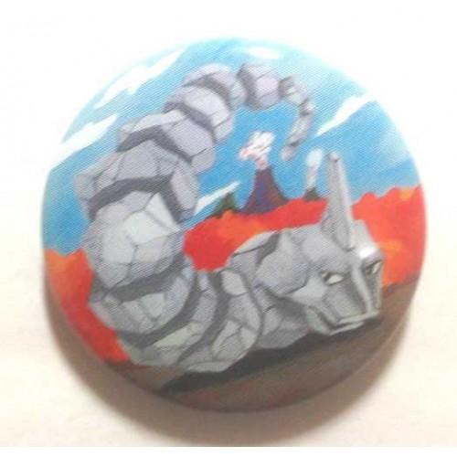 Pokemon Center 2013 15th Anniversary Onix Metal Button