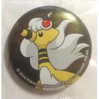 Pokemon Center 2014 Collectible Mega Pokemon Series #1 Mega Ampharos Metal Button