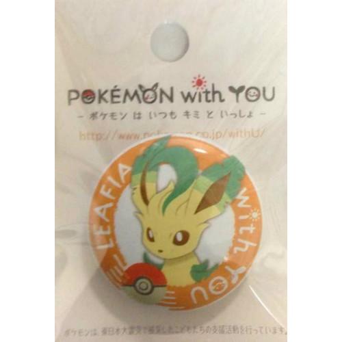 Pokemon Center 2012 Pokemon With You Series #2 Leafeon Metal Button
