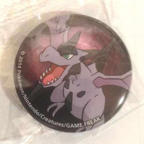 Pokemon Center 2014 Collectible Mega Pokemon Series #2 Mega Aerodactyl Metal Button