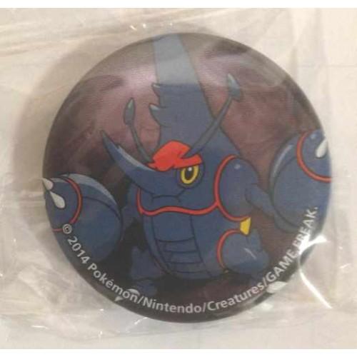Pokemon Center 2014 Collectible Mega Pokemon Series #2 Mega Heracross Metal Button