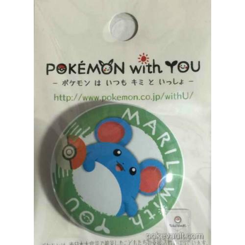 Pokemon Center 2015 Pokemon With You Series #5 Marill Metal Button
