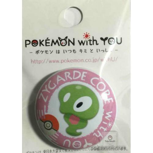 Pokemon Center 2015 Pokemon With You Series #5 Zygarde Core Metal Button