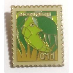 Pokemon 1998 Part 1 Masara Metapod Metal Stamp Pin Badge