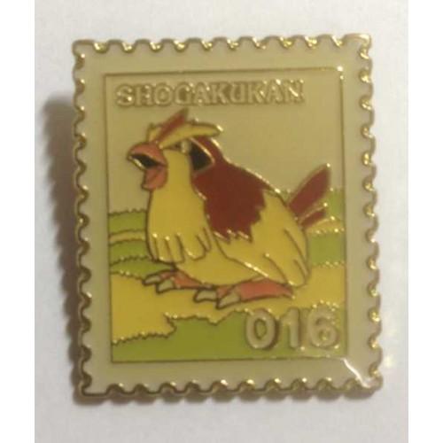 Pokemon 1998 Part 1 Masara Pidgey Metal Stamp Pin Badge