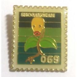 Pokemon 1998 Part 3 Hanada Bellsprout Metal Stamp Pin Badge