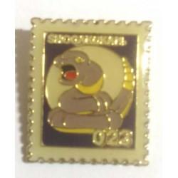 Pokemon 1998 Part 3 Hanada Ekans Metal Stamp Pin Badge