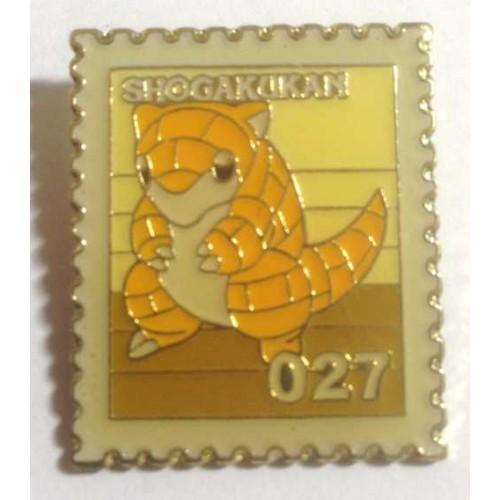 Pokemon 1998 Part 3 Hanada Sandshrew Metal Stamp Pin Badge