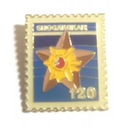 Pokemon 1998 Part 3 Hanada Staryu Metal Stamp Pin Badge