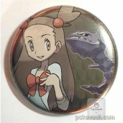 Pokemon Center 2016 Johto Button Collection Jasmine Steelix Large Size Metal Button