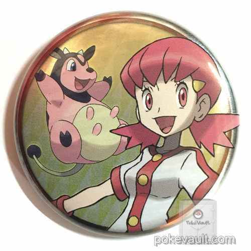Pokemon Center 2016 Johto Badge Collection Whitney Miltank Large Size Tin Can Badge