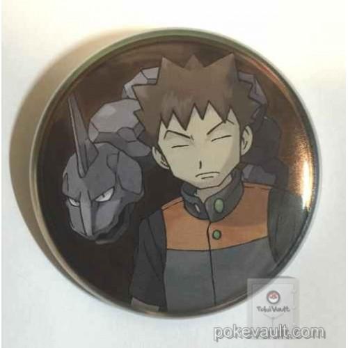 Pokemon Center 2016 Kanto Button Collection Brock Onix Large Size Metal Button