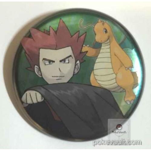 Pokemon Center 2016 Kanto Badge Collection Lance Dragonite Large Size Tin Can Badge