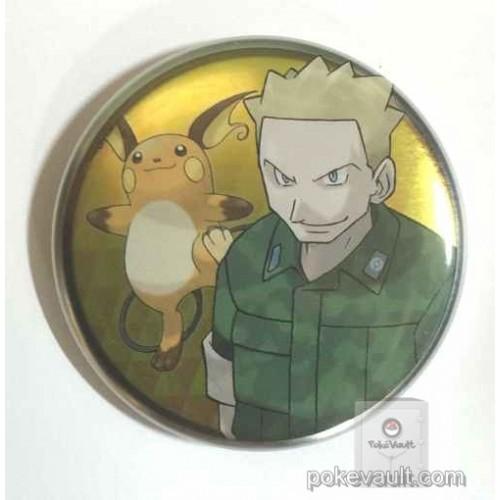 Pokemon Center 2016 Kanto Button Collection Lt. Surge Raichu Large Size Metal Button
