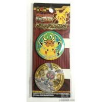 Pokemon Center 2016 Magearna Pikachu Dedenne Zygarde Core Movie Version Set of 2 Clip Metal Buttons
