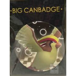 Pokemon Center 2016 Big Button Series #1 Pidgeot Extra Large Size Metal Button #018