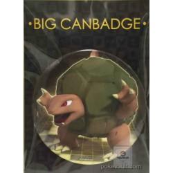 Pokemon Center 2016 Big Button Series #1 Golem Extra Large Size Metal Button #076