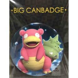 Pokemon Center 2016 Big Button Series #1 Slowbro Extra Large Size Metal Button #080