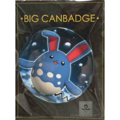 Pokemon Center 2017 Big Button Series #2 Azumarill Extra Large Size Metal Button #184