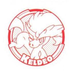 Pokemon 2012 Stamp Retusden Black & White Series #4 Keldeo Ink Stamper