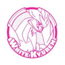 Pokemon 2012 Stamp Retusden Black & White Series #4 White Kyurem Ink Stamper