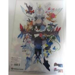 Pokemon Center 2012 Black & White #2 Kyurem Growlithe Eevee Snivy & Friends A4 Size Clear File Folder