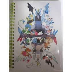 Pokemon Center 2012 Black & White #2 Black White Kyurem Growlithe Eevee Snivy & Friends Spiral Notebook