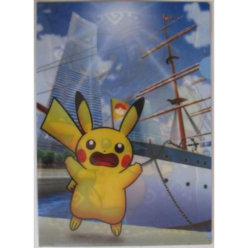 Pokemon Center Yokohama 2011 Pikachu A4 Size Clear File Folder