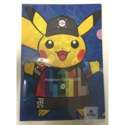 Pokemon Expo Gym 2016 Pikachu Bulbasaur Charmander Mudkip Snivy & Friends A4 Size Clear File Folder