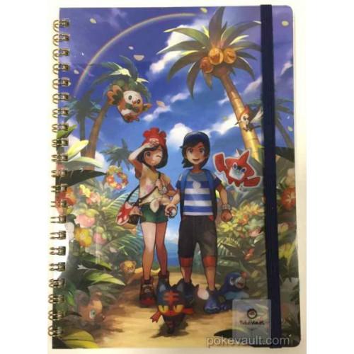 Pokemon Center 2016 Welcome To Alola Campaign Rockruff Litten Popplio Rowlet & Friends Spiral Notebook