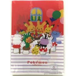 Pokemon Center 2017 Shinzi Katoh Little Tales Campaign #4 Pikachu Perap Bonsly Cleffa Meloetta & Friends Set of 4 A4 Size Clear File Folders