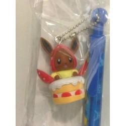 Pokemon Center Fukuoka 2012 Eevee Strawberries Mechanical Pencil With Figure Charm