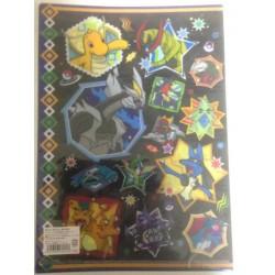 Pokemon Center 2013 Black White Kyurem Hydreigon Rayquaza Genesect & Friends A4 Size Clear File Folder