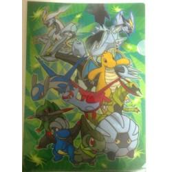 Pokemon Center 2013 Dragon Type Latias Latios Rayquaza Salamence Dragonite & Friends A4 Size Clear File Folder