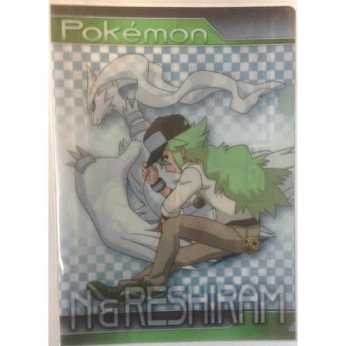 Pokemon Center 2013 N Reshiram A4 Size Clear File Folder