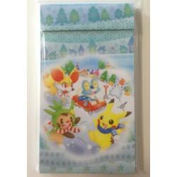 Pokemon Center 2013 Christmas Pikachu Fennekin Froakie Chespin Memo Pad