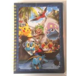 Pokemon Center Tokyo Bay 2013 Grand Opening Inkay Chespin Fennekin Clauncher Dedenne & Friends Spiral Notebook