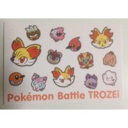 Pokemon Center 2014 Battle Trozei Fennekin Braixen Delphox & Friends Authentic Postcard Lottery Prize NOT SOLD IN STORES