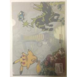 Pokemon Center 2014 Happy Lighting Pikachu Zebstrika Serena & Friends A4 Size Clear File Folder