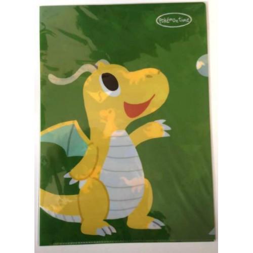 Pokemon Center 2014 Pokemon Time Campaign #7 Dragonite A4 Size Clear File Folder