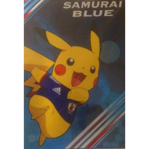 Pokemon Center 2014 Pikachu Samurai Blue World Cup Soccer Memo Pad