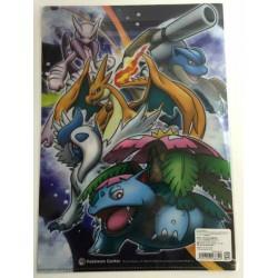 Pokemon Center 2014 Mega Charizard X Mega Gengar Mega Mawile & Friends A4 Size Clear File Folder