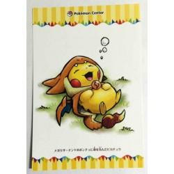 Pokemon Center 2015 Mega Tokyo Pikachu Pikazard Authentic Postcard Lottery Prize (Version #6) NOT SOLD IN STORES
