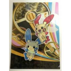 Pokemon Center 2014 Minun Plusle A4 Size Clear File Folder